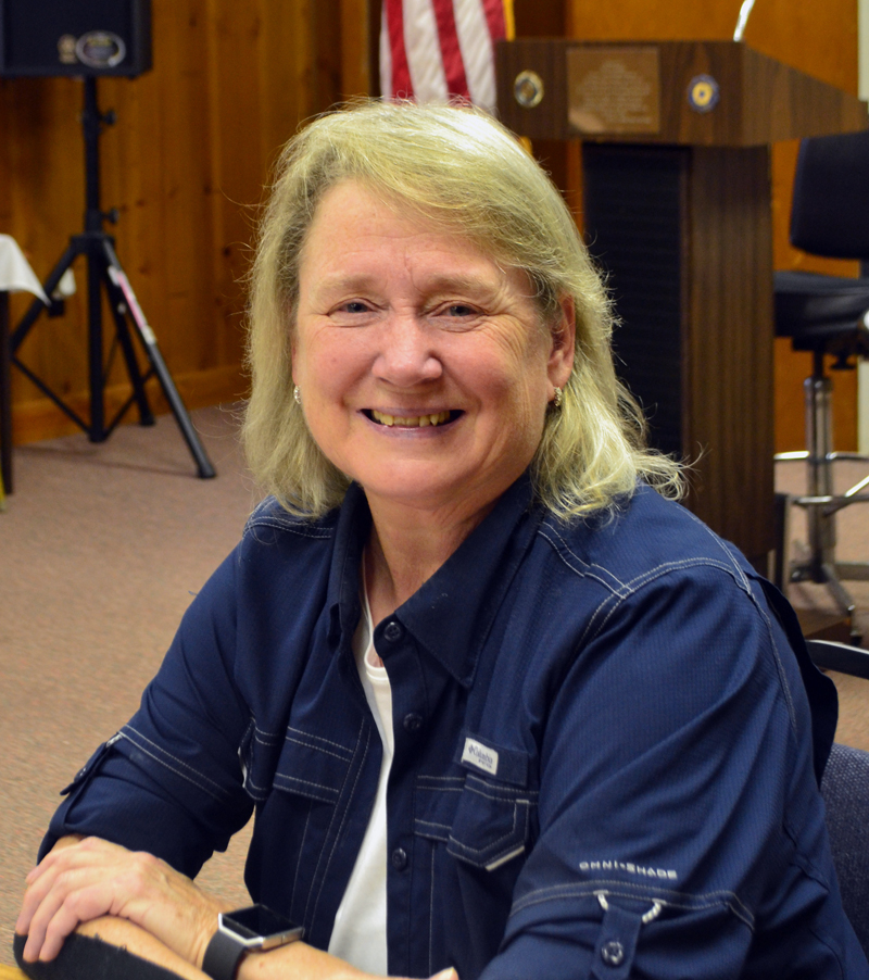 Retired U.S. Air Force Lt. Col. Donna Wallace is the first female commander of the Charles C. Lilly American Legion Post No. 149 in her hometown of Waldoboro. (Charlotte Boynton photo)