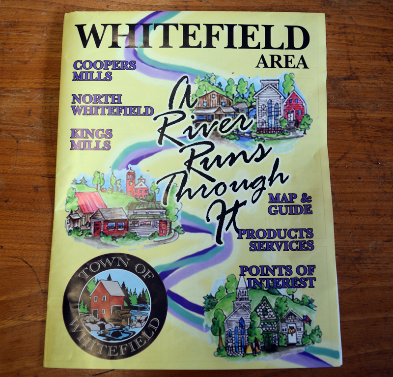 The cover of the fold-our Whitefield map and guide. (Jessica Clifford photo)