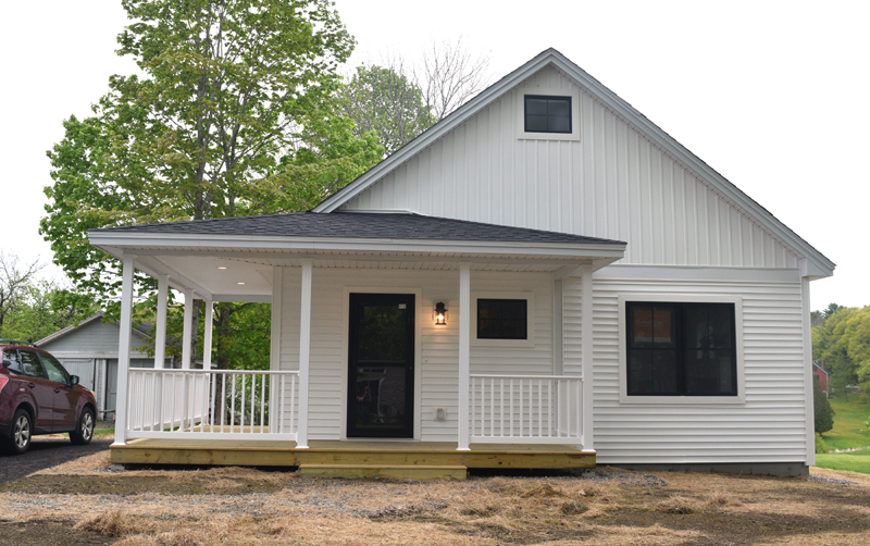 A soon-to-be homeowner will close on a new Habitat for Humanity home on Federal Street in Wiscasset later this month. (Jessica Clifford photo)