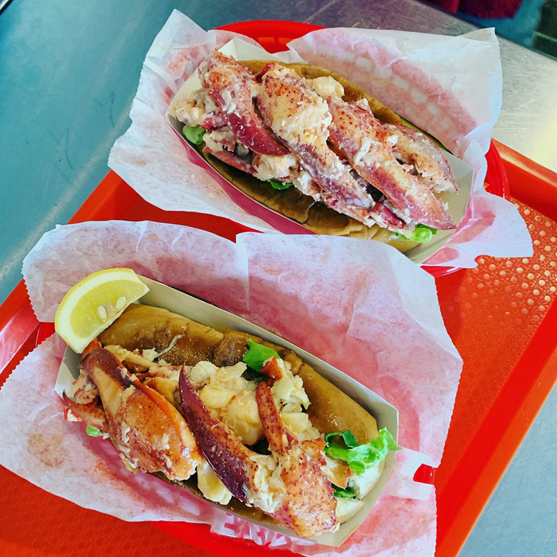 The jumbo lobster rolls available at The Lobster Haul in downtown Damariscotta. Formerly known as Joe Lane Lobsterman, the restaurant opened for its third season with a new name.
