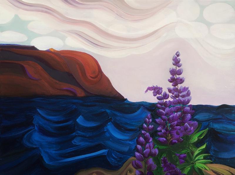 """""""Manna Island,"""" a painting by Ammi Bai Chung."""