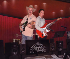 Larry and Ms. Sue take the stage at the Rock & Roll Hall of Fame.