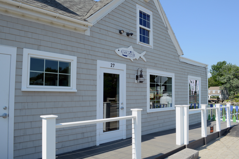 The exterior of the new River House farm-to-table restaurant beside the Twin Villages bridge in Damariscotta. Owner Eleanor Kinney and chef Jon Merry have a goal of sustainability and transparency about where their food comes from. (Evan Houk photo)