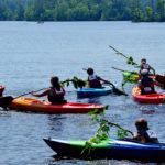 Competitors Face Off in 'Silly' Boat, Paddleboard Events on Damariscotta Lake