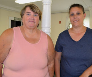 Lisa Marr (right) will coordinate a Toys for Tots campaign in Lincoln County this year, with Sharon Morton as her assistant. (Charlotte Boynton photo)