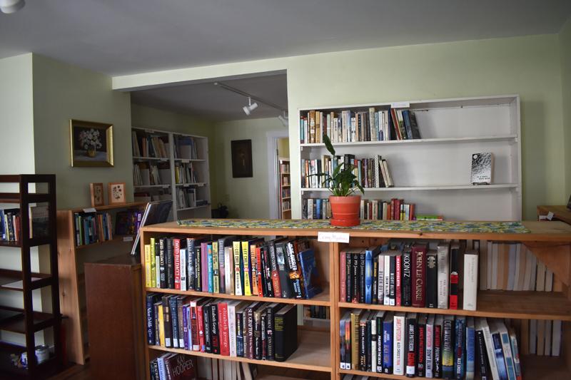 The interior of The Village Bookshop in Waldoboro. (Alexander Violo photo)