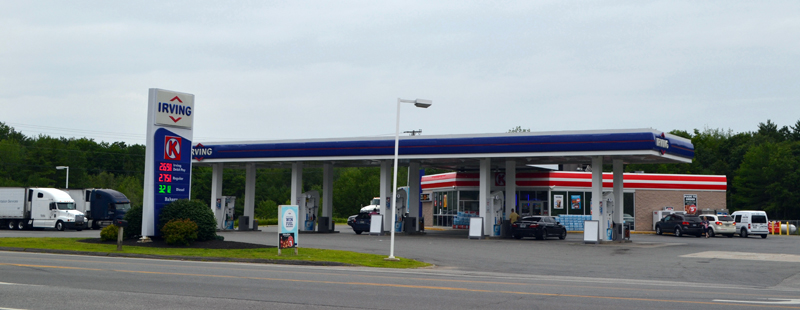 As of July 24, the Irving Circle K at 639 Bath Road will serves as a bus stop for the Concord Coach Line. The bus service in Wiscasset was suspended this past January due to its service not having a place to stop in Wiscasset to pick-up or drop-off passengers. (Charlotte Boynton photo)