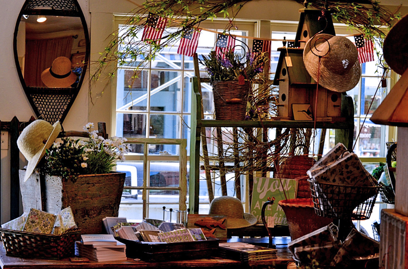 A seasonal display of home goods and accessories at Old and Everlasting. (Nettie Hoagland photo)