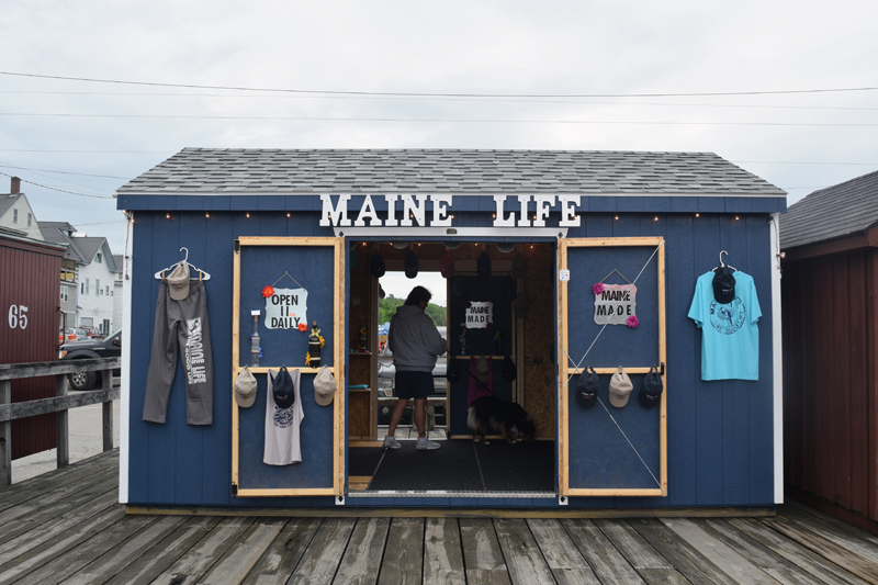 The Maine Life shop on the Creamery Pier in Wiscasset. The new shop sells apparel, accessories, and decorations. (Jessica Clifford photo)