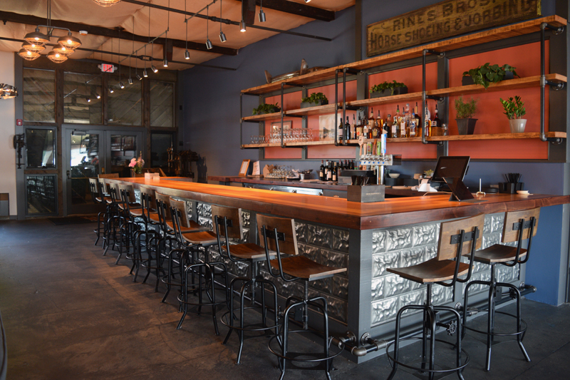 The bar at the new Water Street Kitchen and Bar. (Jessica Clifford photo)