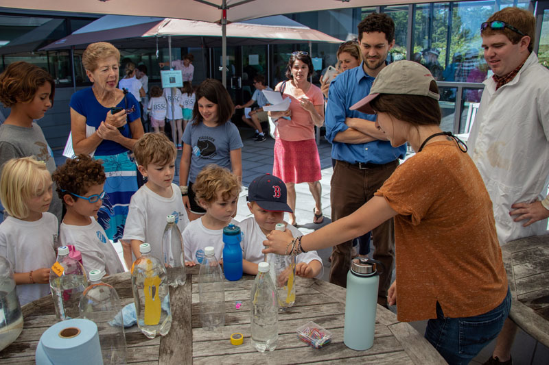 Visitors learn about water density at Bigelow Laboratory for Ocean Sciences. The laboratory will hold its annual open house on its campus in East Boothbay Friday, July 19 from 10 a.m. to 2 p.m.