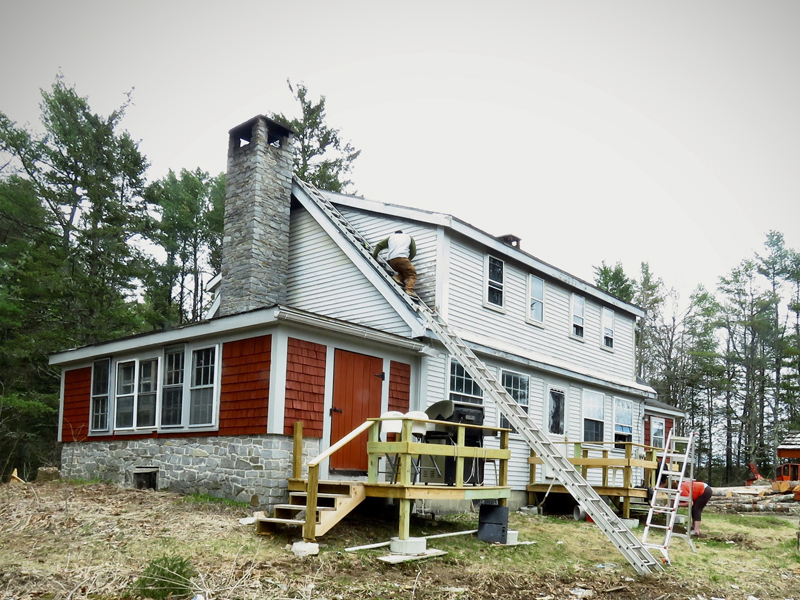Restoration work is underway at the Otis Benner farmhouse in Waldoboro.