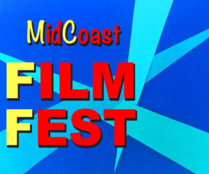 The original MidCoast Film Fest logo, by Lynda Riess Lathrop.