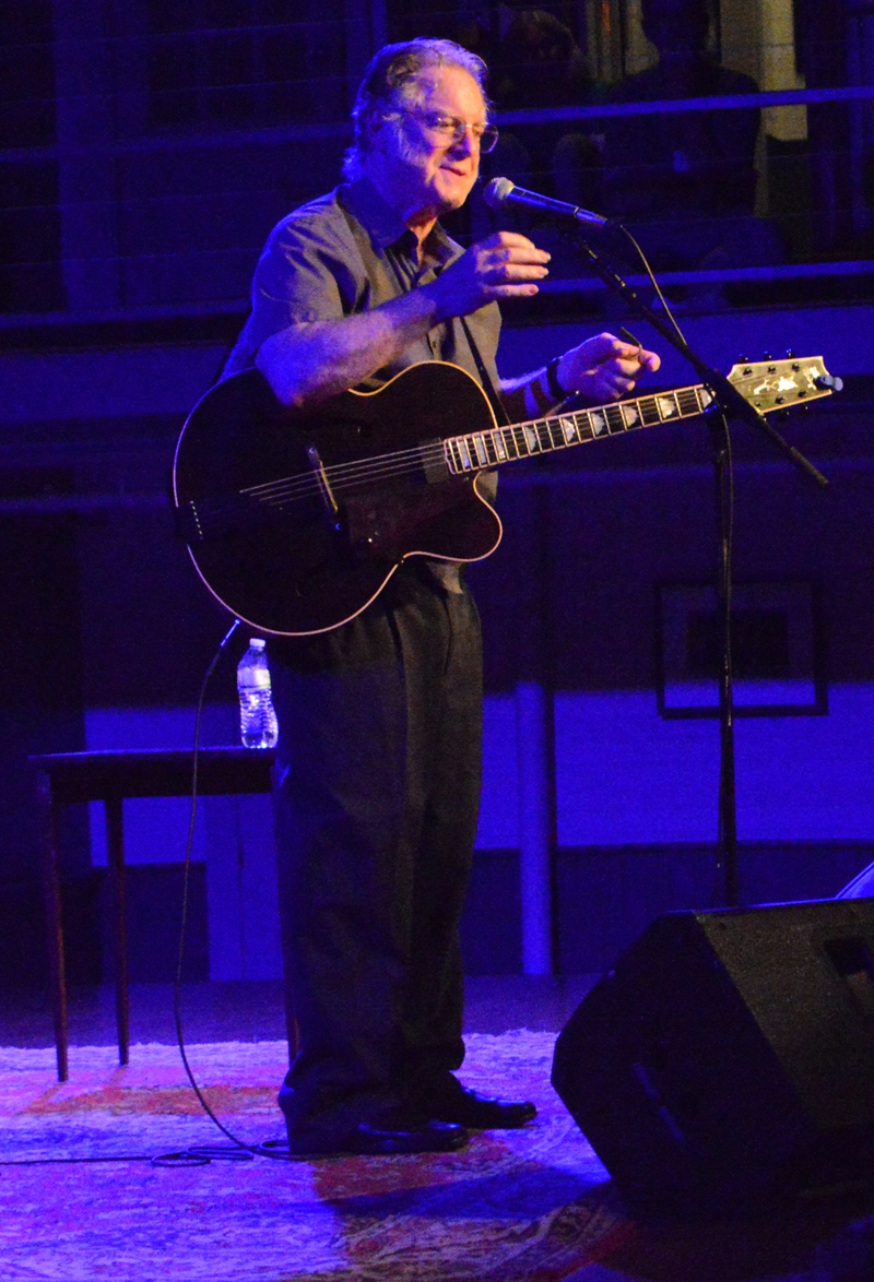 John Sebastian tells an anecdote from his 50-plus years working in the music industry at the Opera House at Boothbay Harbor on Thursday, July 25. (Evan Houk photo)