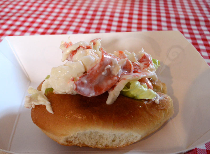 A mini lobster roll at The Lobster Haul, the second stop on Red Cloak Tours' Historic Tidbit Tasting Tour of Damariscotta on Wednesday, July 31. (Evan Houk photo)