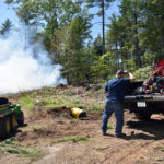 Firefighters Extinguish Woods Fire in Jefferson