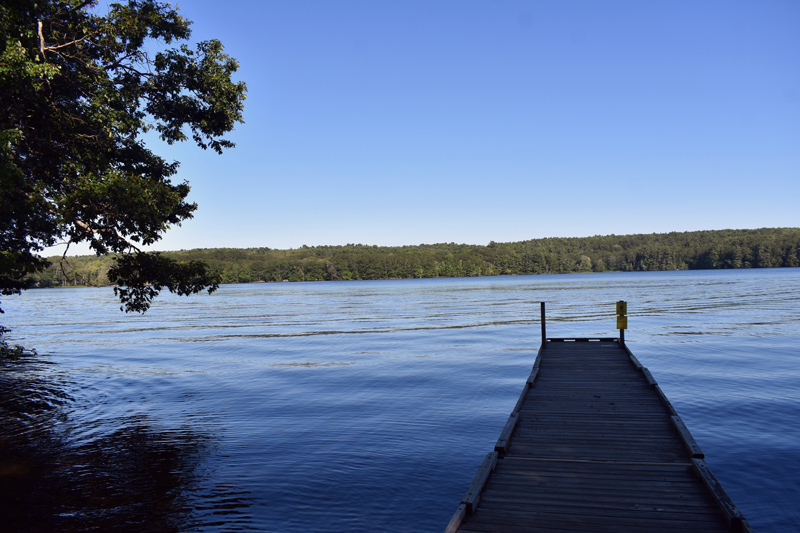 A view from the state boat launch on Damariscotta Lake in Jefferson. The state expects construction at the facility to begin soon. (Alexander Violo photo)
