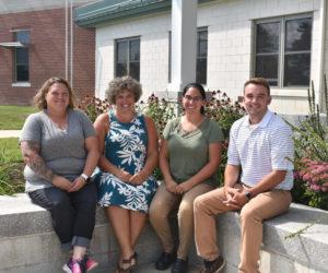 Jefferson Village School has four new teachers this year. From left: Mandi Groth, Jessie Grady, Amanda Flagg, and Sawyer Pinkham. (Alexander Violo photo)