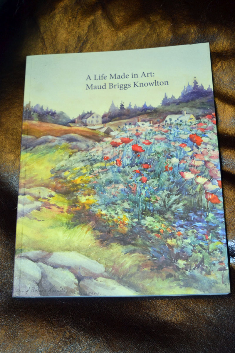 Art imitates life: The cover of the book about the Maud Briggs Knowlton exhibit currently running at the Monhegan Museum of Art & History beautifully matches the flowery scenery on Monhegan Island. (Christine LaPado-Breglia photo)