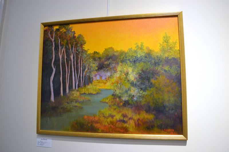 """Tree Line,"" an acrylic painting by June Elderkin. (Christine LaPado-Breglia photo)"