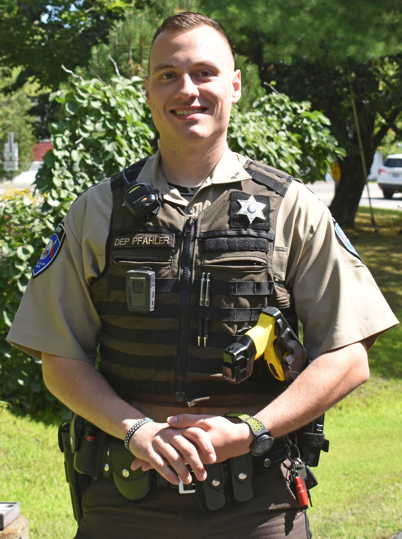 Lincoln County Sheriff's Deputy Sean Pfahler is the new school resource officer at Lincoln Academy in Newcastle. (Alexander Violo photo)