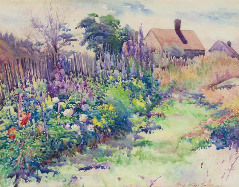 """Lora Jenney's Garden, Monhegan,"" a watercolor painted by Maud Briggs Knowlton in 1925. (Photo courtesy Monhegan Museum of Art & History)"
