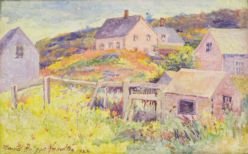 """Monhegan Hillside, Springtime,"" by Maud Briggs Knowlton, 1922. (Photo courtesy Monhegan Museum of Art & History)"