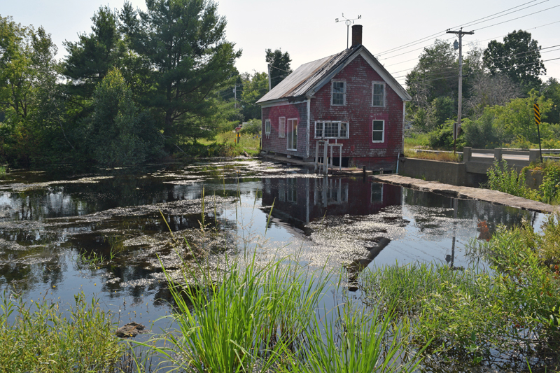 A view of the old mill house above the Clary Lake Dam on Mills Road in Whitefield after the Clary Lake Association's annual meeting Sunday, Aug. 4. (Jessica Clifford photo)