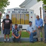 Whitefield Senior Men's Group Repairs War Memorial