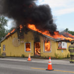 Huber's Market Burns in Training Exercise