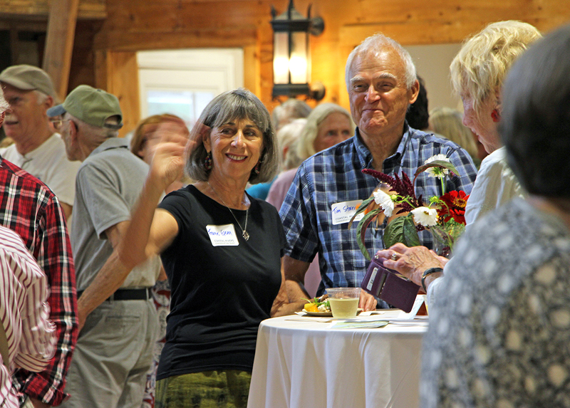 Hundreds of Coastal Rivers Conservation Trust members gathered in Darrows Barn to celebrate the success of projects supporting clean water, trails and public access, land conservation, and nature education.