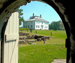 The Fort House as seen from Fort William Henry.