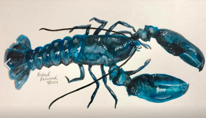 """Blue Lobster,"" by Rachael Richmond."