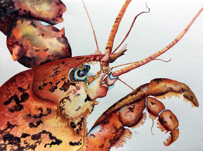 """""""Beauty Is in the Eye,"""" a watercolor by Jean Kgiel."""