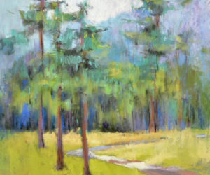 """Biltmore Lake Path,"" a pastel piece by Terrilynn Dubreuil."