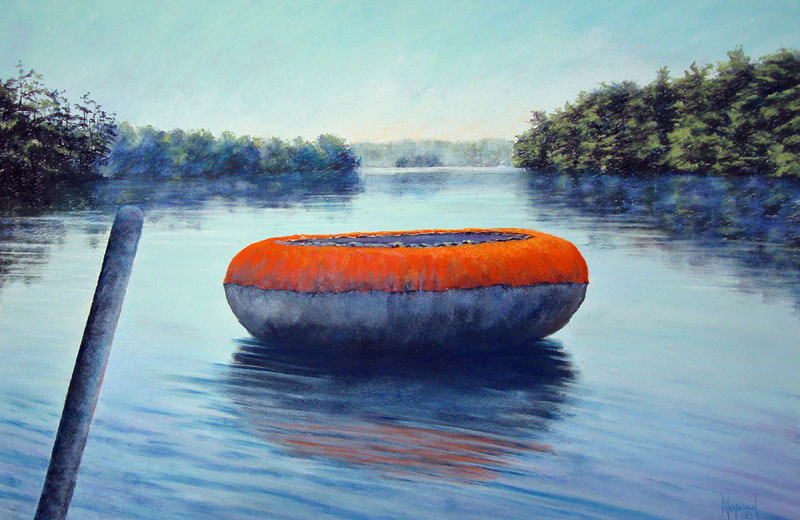 """Symphony in Blue and Orange,"" a pastel by Anne Heywood."