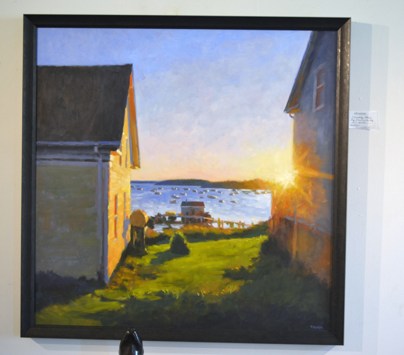"""""""Big Fire in the Sky,"""" a 36-by-36-inch oil painting by Timothy Horn. (Christine LaPado-Breglia photo)"""