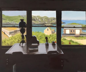 """Library View, Island Inn, Monhegan Island,"" a painting by George Baker currently on exhibit in the ""Monhegan and the Islands"" show at Kefauver Studio & Gallery in Damariscotta. (Image courtesy Will Kefauver)"