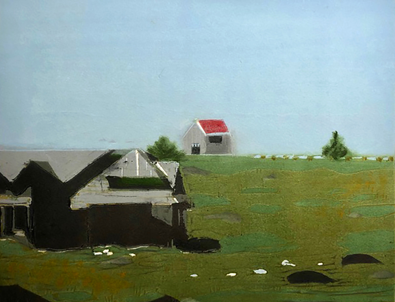 """Red Roof,"" by Deborah Kozak. (Image courtesy Will Kefauver)"