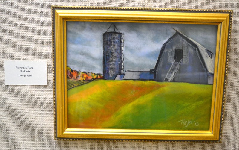 """Pierson's Barn,"" a pastel piece by Waldoboro artist George Hayes. (Christine LaPado-Breglia photo)"
