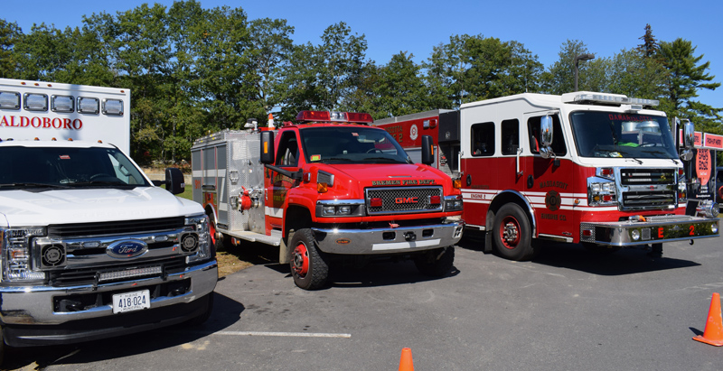 Several emergency vehicles were available for kids to explore at the inaugural Lincoln County Emergency Preparedness Fair at the Central Lincoln County YMCA in Damariscotta on Saturday, Sept. 21. (Evan Houk photo)