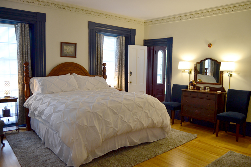 Each room at The Tipsy Butler is named for a famous butler or literary icon. The Wodehouse room, on the first floor, is named for English author P.G. Wodehouse, who created the fictional character Reginald Jeeves. (Maia Zewert photo)