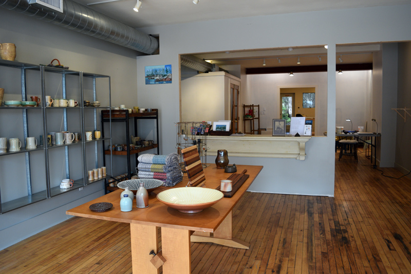 A view of the Midcoast Craft gallery and class space at 75 Main St. in Wiscasset. (Jessica Clifford photo)