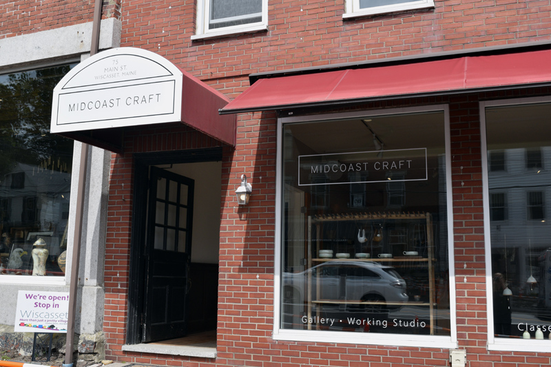 The Midcoast Craft storefront at 75 Main St. in downtown Wiscasset. (Jessica Clifford photo)