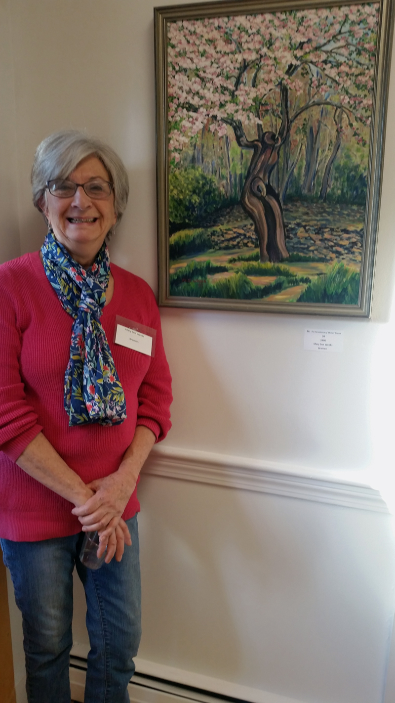 Mary Sue Weeks and her art.