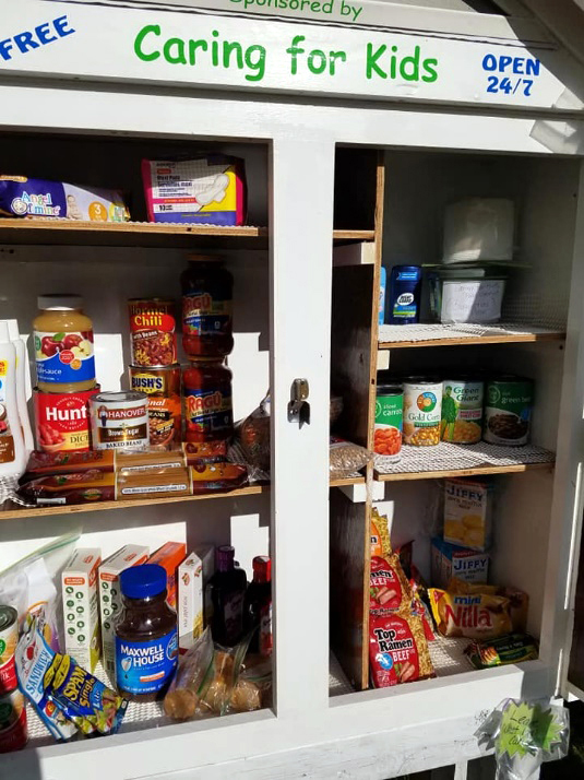 Caring for Kids announces that its public food pantry is open and ready for visitors.