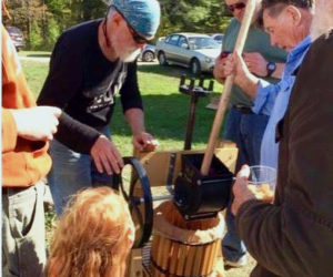 Participants at the Lincoln County Historical Association's cider pressing event at the Pownalborough Court House can make their own cider on Sunday, Sept. 29.