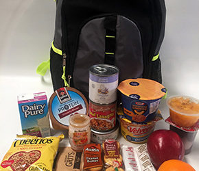 The Ecumenical Food Pantry Backpack Program discreetly distributes prepacked bags of healthy, easy-to-prepare, shelf-stable food before weekends and long vacations for children to bring home.