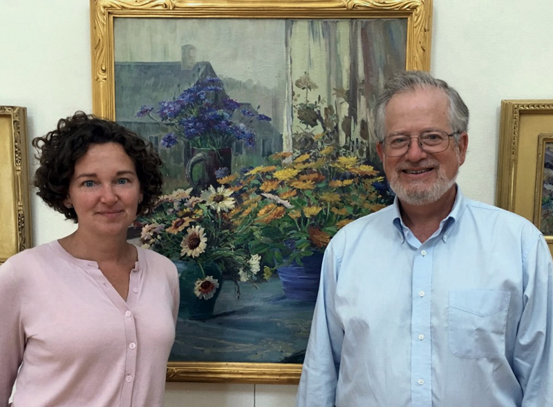 Jennifer Pye and Robert Stahl, new co-directors of the Monhegan Museum of Art & History. (Photo courtesy Monhegan Museum of Art & History)