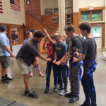 Damariscotta Montessori Middle Schoolers at Camp Kieve